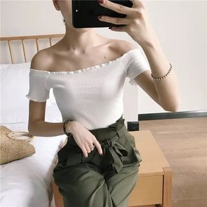 Tops - 🌸NWT🌸 White Ribbed Off The Shoulder Top